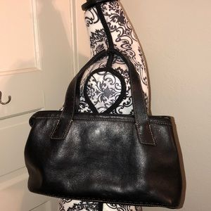 Fossil black leather shoulder good condition